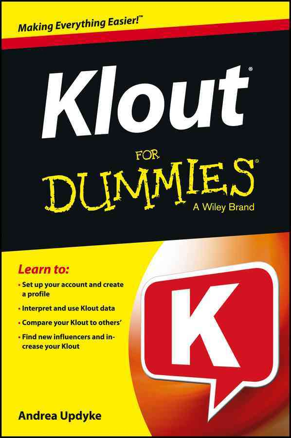 Klout for Dummies By Updyke, Andrea